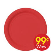 Value Red Paper Dessert Plates 20ct