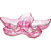 Hot Pink Starfish Plastic Chip & Dip Tray 14in