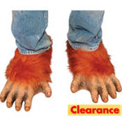 Adult Orangutan Feet Shoe Covers