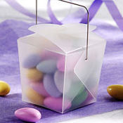 Translucent Mini Wedding Favor Pails 12ct