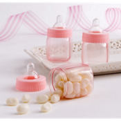 Pink Fillable Bottles Baby Shower Favors 6ct
