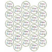 New Baby Sticker Seals 25ct