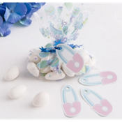 Blue Mini Baby Shower Favor Bag Kit 24ct