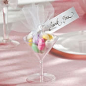 Martini Glass Wedding Favor Kit 24ct