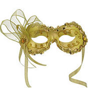 Gold Angelina Masquerade Mask