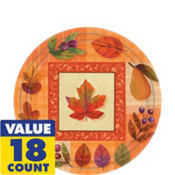 Watercolor Leaves Dessert Plates 18ct
