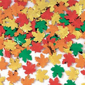 Maple Leaf Metallic Confetti 2.5oz