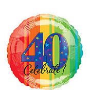 A Year to Celebrate 40th Birthday Foil Balloon 18in