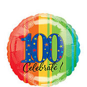 A Year to Celebrate 100th Birthday Foil Balloon 18in