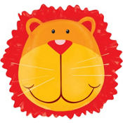 Foil Lion Birthday Balloon 24in