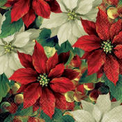 Regal Poinsettia Beverage Napkins 16ct