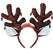 Moose Antlers Headband with Ornaments
