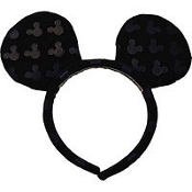 Printed Mickey Mouse Ears Headband