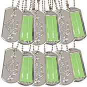 Camouflage Dog Tags 12ct
