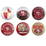 San Francisco 49ers Buttons 6ct