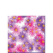 Aster Purple Beverage Napkins 20ct