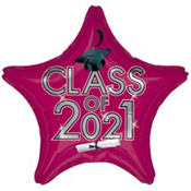 Burgundy Class of 2013 Star Graduation Balloon 19in
