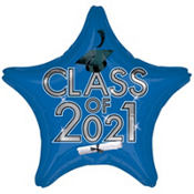 Class of 2013 Royal Blue Star Graduation Balloon 19in