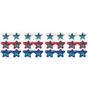 Red, White & Blue Assorted Star Sunglasses 12ct