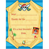 Pirate Fill In Thank You Notes 8ct