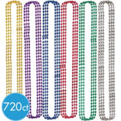 Oval Mardi Gras Bead Necklaces 33in 720ct<span class=messagesale><br><b>8¢ per piece!</b></br></span>