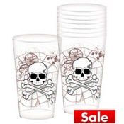 Shocktails Clear Printed Plastic Tumblers 16oz 25ct