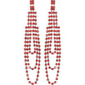 Faux Ruby Earrings