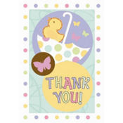 Tiny Bundle Baby Shower Thank You Notes 8ct