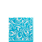 Caribbean Ornamental Scroll Beverage Napkins 16ct