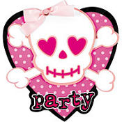 Jumbo Punk Girl Invitations 8ct