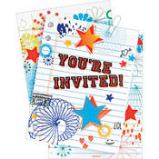 School Days Large Invitations 8ct