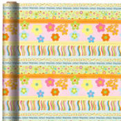 Jumbo Pretty Stripes Birthday Gift Wrap