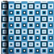 Jumbo Blue Squares Gift Wrap