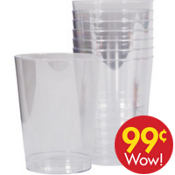 Large Value Clear Plastic Cups 8ct