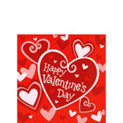 Be Mine Valentines Day Beverage Napkins 16ct