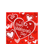 Be Mine Valentine's Day Beverage Napkins 16ct
