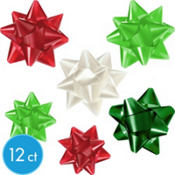 Red and Green Bows 12ct