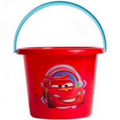 Plastic Cars Easter Bucket 7 1/2in