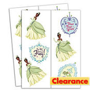 Princess and the Frog Tattoos 2 Sheets