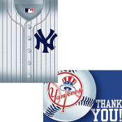 New York Yankees Invitations & Thank You Notes for 8