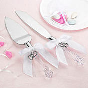 Sweetheart Charm Wedding Cake Server Set