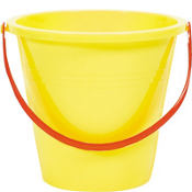 Yellow Large Pail 9in