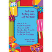 Fun in the Sun Custom Invitation