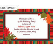 Falling Foliage Custom Invitation