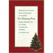 Classic Christmas Tree Custom Invitation