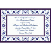Blue Provence Custom Invitation