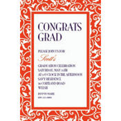 Orange Ornamental Scroll Custom Invitation