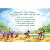 At the Races Custom Invitation