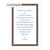 Black Moroccan Border/White Custom Invitation