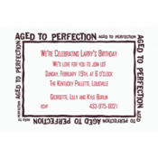 Aged to Perfection Custom Invitation